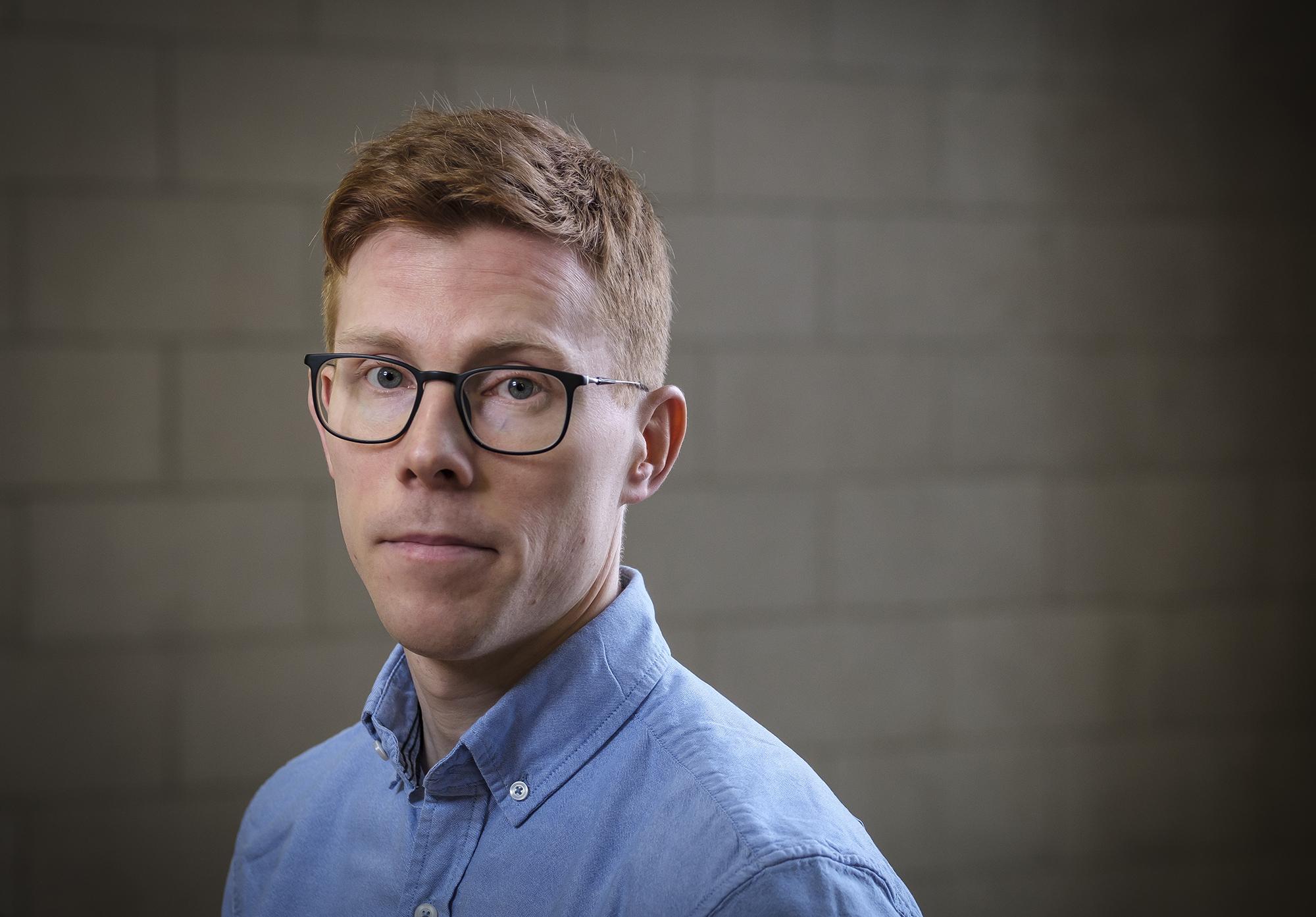 Portrait of Finnur Dellsén - Photo credit: Kristinn Ingvarsson