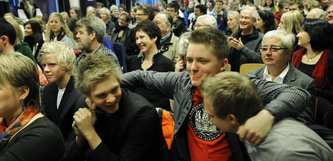 Holbergprisen i skolen prisseremoni Bergen Katedralskole