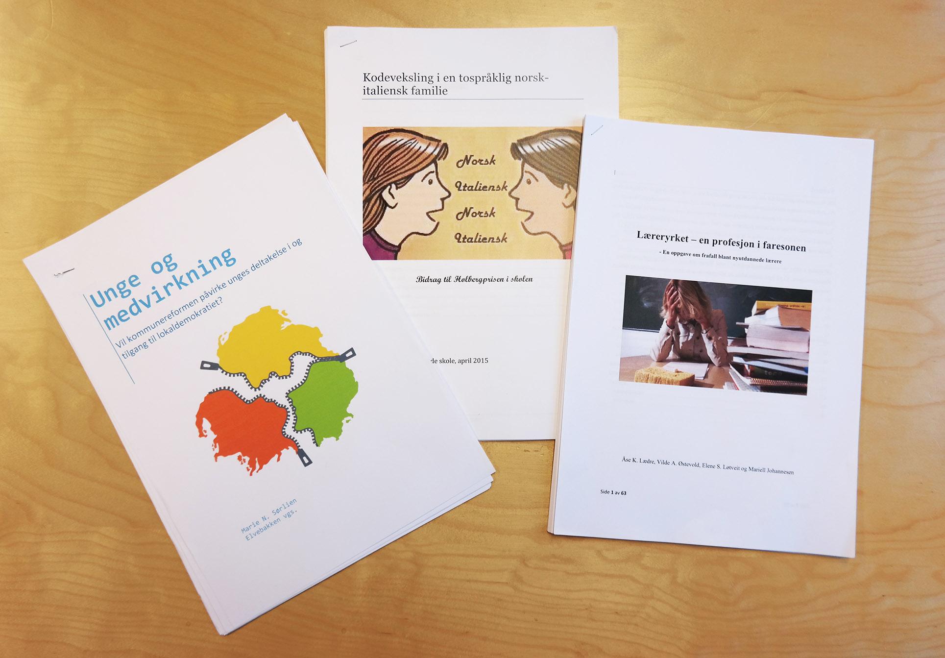 Holbergprisen i skolen_finalistoppgaver