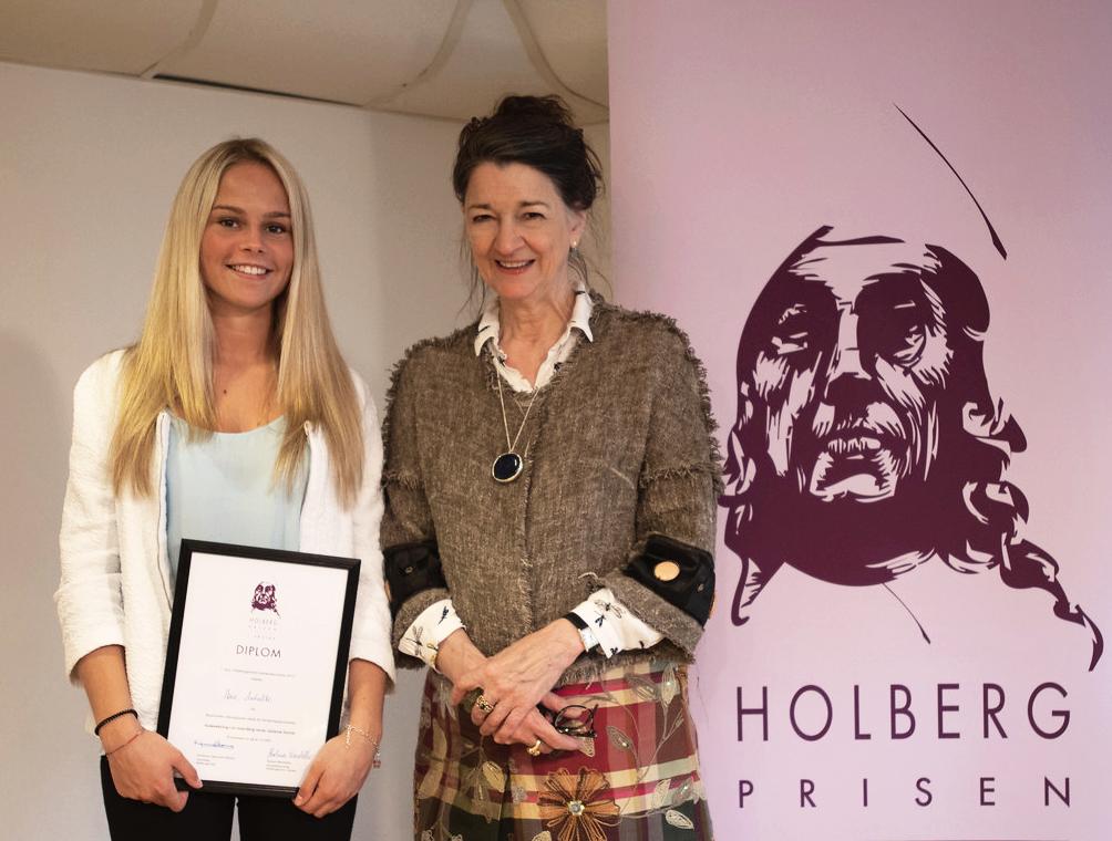 Iben Aarbakke og Marina Warner, Holbergprisen i skolen 2015