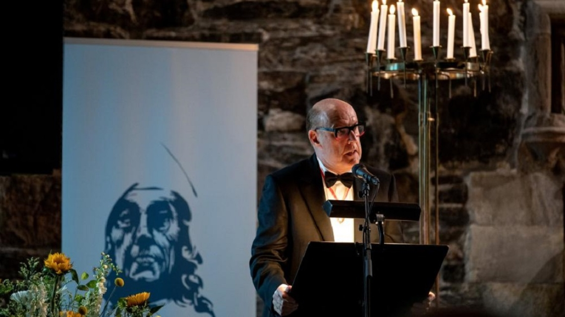 Sir David Cannadine delivers his speech at the Holberg Prize Banquet on 5 June, 2019. The Banquet was held in honour of 2019 Holberg Laureate Paul Gilroy.